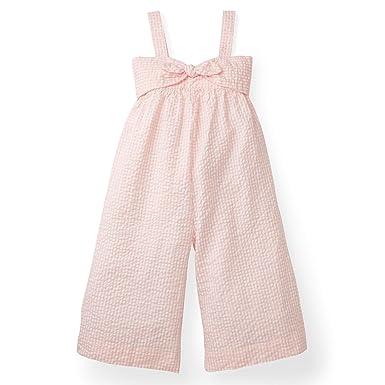 a1c541e9e595 Amazon.com  Hope   Henry Girls  Bow Front Wide Leg Jumpsuit  Clothing