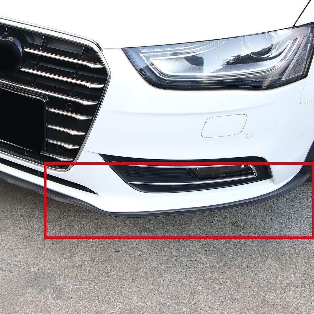 DDSKY Universal 2.5m//8.2ft Carbon Fibe Front Bumper Lip Splitter Protector for Car Truck SUV Car Front Bumper Spoiler Black