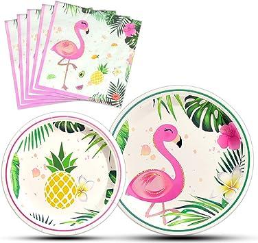 Amazon.com: WERNNSAI Flamingo Party Supplies – Juego de ...