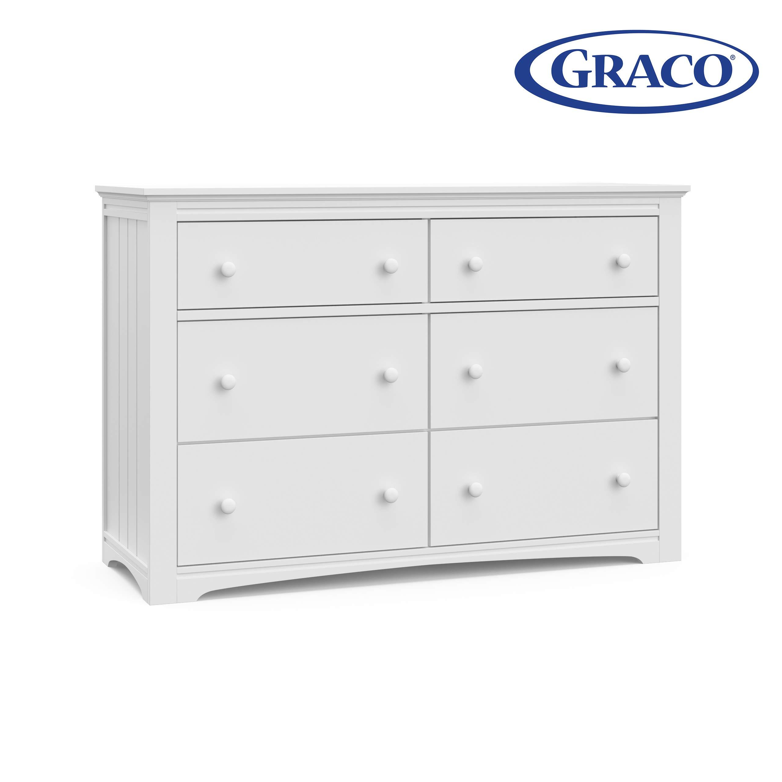 Storkcraft 03706-101 Graco Hadley 6 Drawer (White) Dresser, by Stork Craft