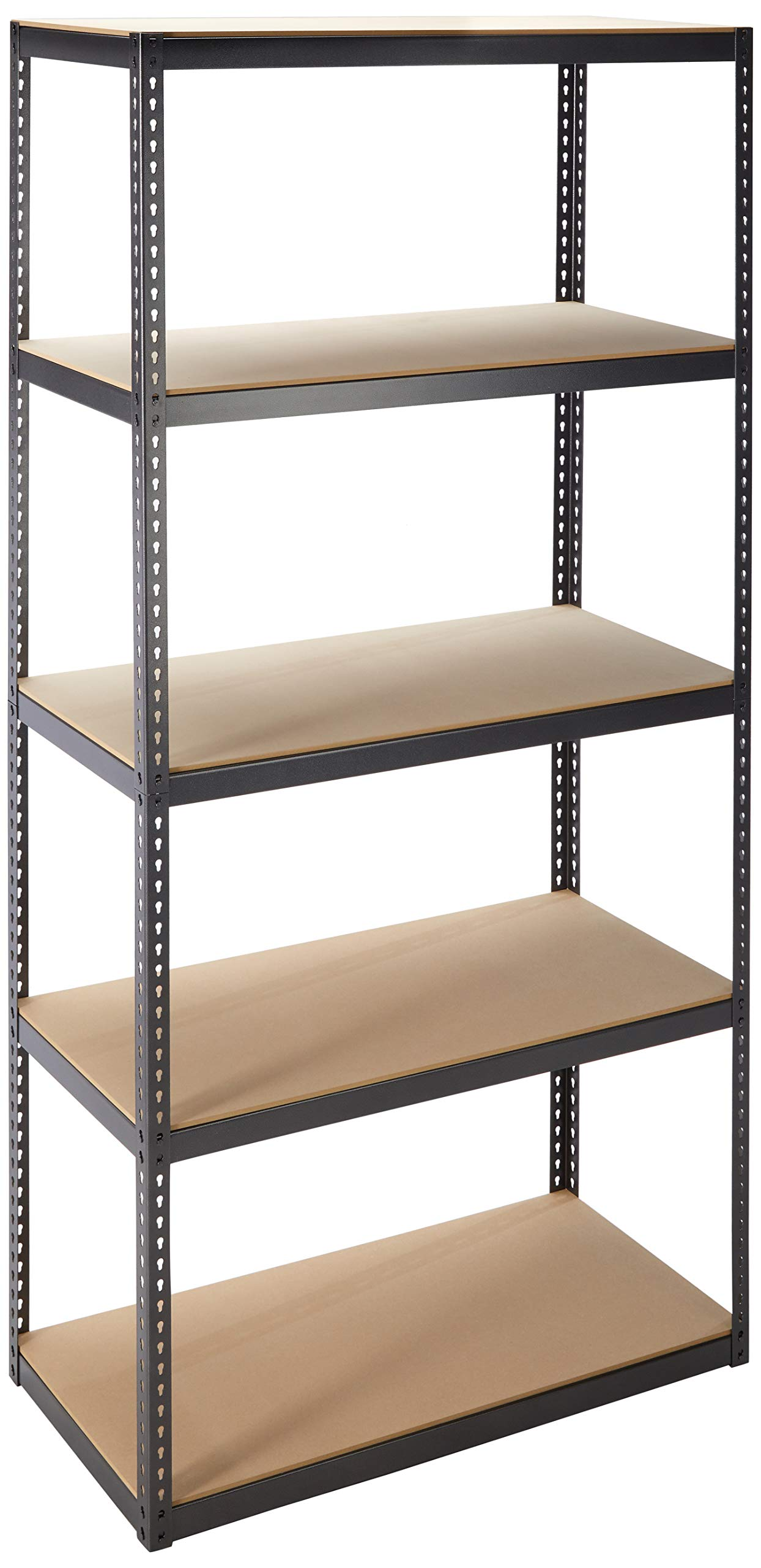 Jaken Co. SCB0850D 5 Shelf Storage Unit, 16'' x 36'' x 72''