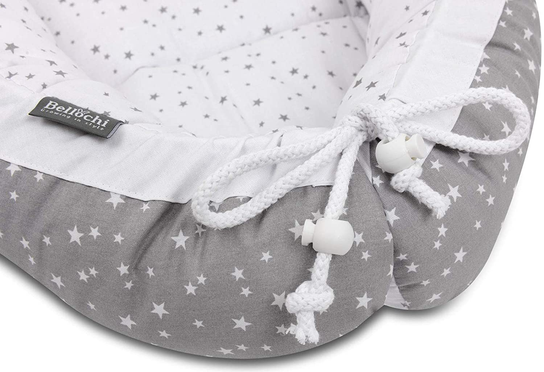 Aurora Bellochi Babynest Babynestchen Neugeborene 100/% Baumwolle Baby Kuschelnest 90x60x12cm