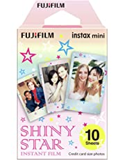 Instax Mini Shiny Star 10pk Film Suitable for Instax Mini Cameras Including 7S,25, 50S, 8, 70 & 90, Also Share Printer SP-2
