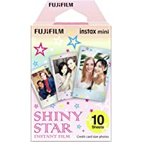 Fujifilm 16404193 Instax Mini Shiny Star 10pk Film Suitable for Instax Mini Cameras Including 7S,25, 50S, 8, 70 & 90…