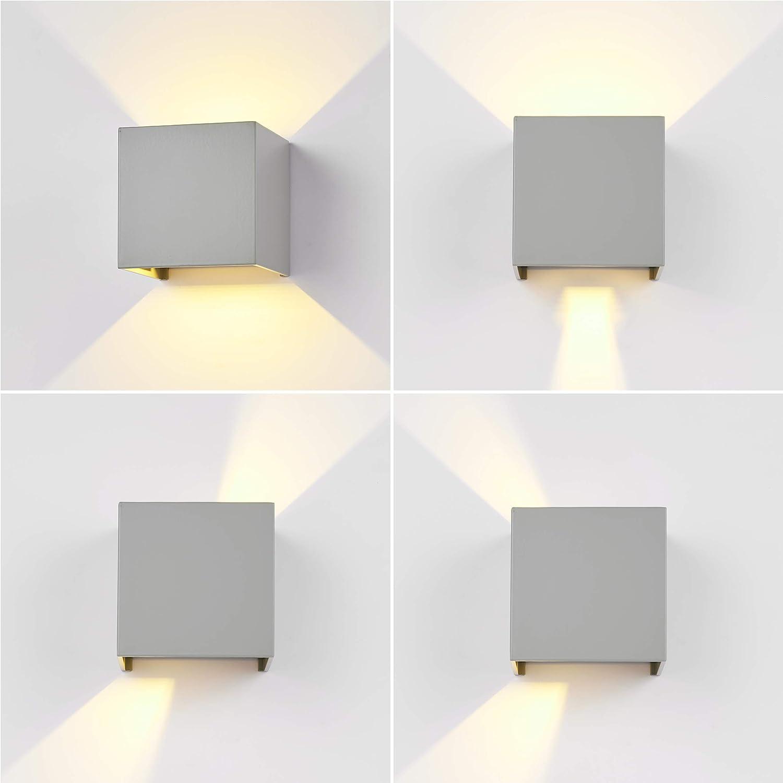 LED di design illuminazione esterno up down Faretto Parete veranda Lampada ip44