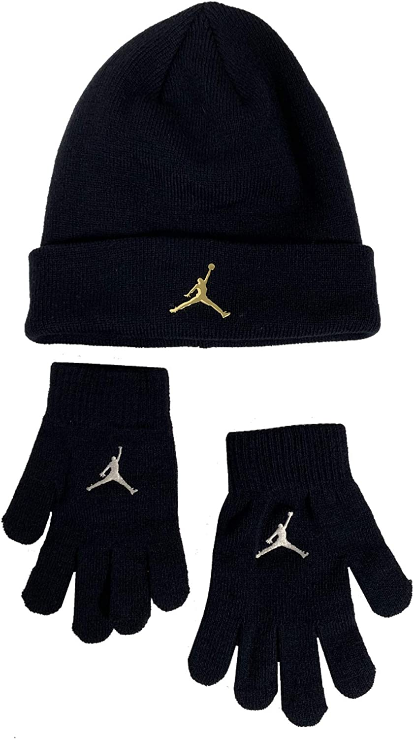 Nike Boys Youth 8-20 Jordan Jumpman Hat /& Gloves Set Blackened Blue
