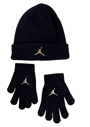 656cb965170 Amazon.com  Nike Boy s  Youth (8-20) Jordan Jumpman Hat   Gloves Set  Blackened Blue  Clothing