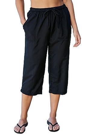 36e7038d492 Swimsuits For All Women's Plus Size Taslon Capri Pants at Amazon ...