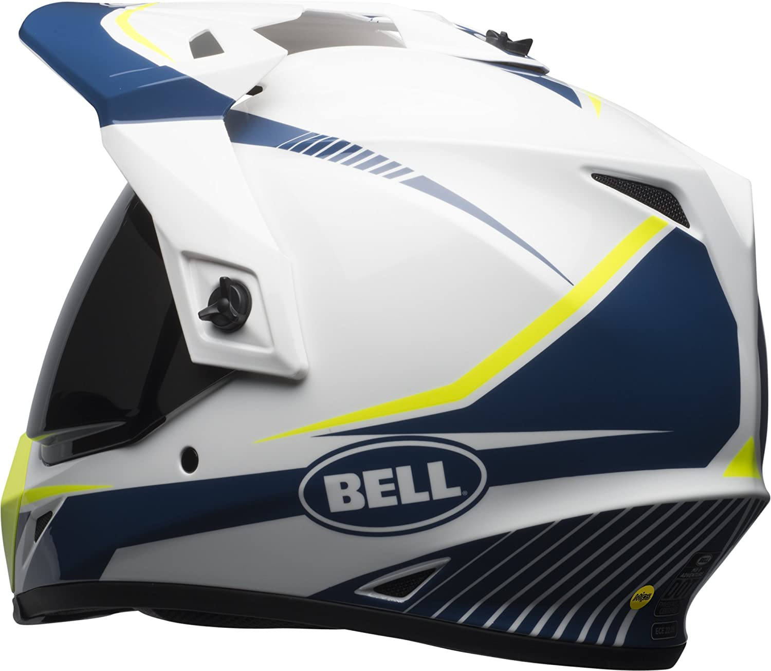 Gloss White//Blue//Yellow Torch, XXX-Large Bell MX-9 Adventure MIPS Full-Face Motorcycle Helmet