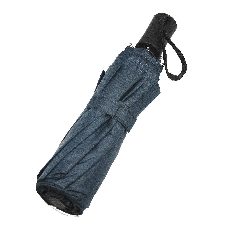 Paraguas con 10 Varillas reforzadas y Sistema de Apertura//Cierre autom/ático. Paraguas Plegable Compacto y Resistente al Viento