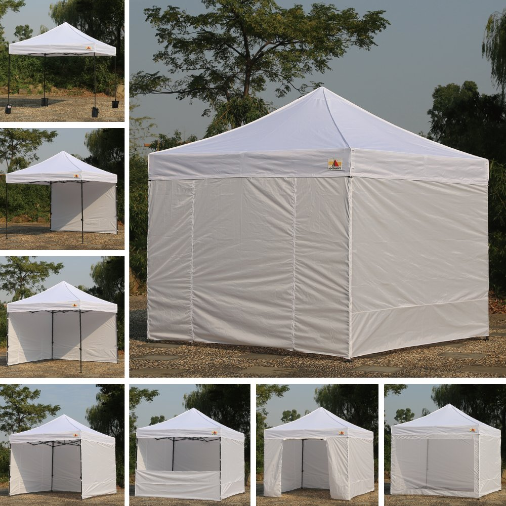 Abccanopy Deluxe 10x10 Instant Canopy Craft Display Tent Portable Booth Market Stall with Wheeled Carry Bag , Bonus 4x Weight Bag by ABCCANOPY (Image #4)