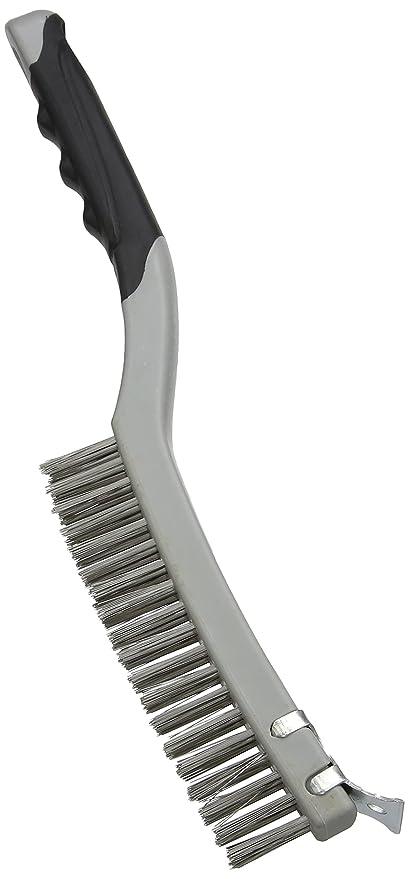 Silverline 156914 - Cepillo de alambre de acero inoxidable con rascador (3 hileras)