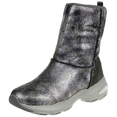 Skechers D´Lite Ultra Temp Damen Stiefel Winterschuhe gefüttert warm GUN