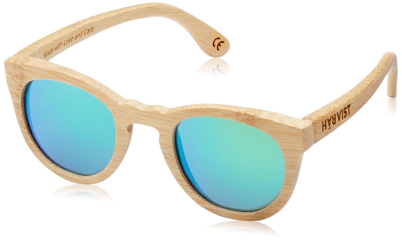 TALLA Talla única. HÄRVIST, Roundwood - Gafas de sol de madera, unisex, color bambú