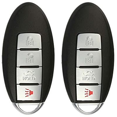 KeylessOption Keyless Entry Remote Car Key Fob for KBRASTU15 (Pack of 2): Automotive
