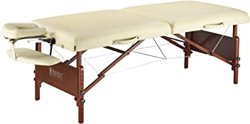 "Master Massage 30"" Del Ray Pro Portable Massage Table Package, Sand Color, Luxurious with 3"" Thick Cushion of Foam"