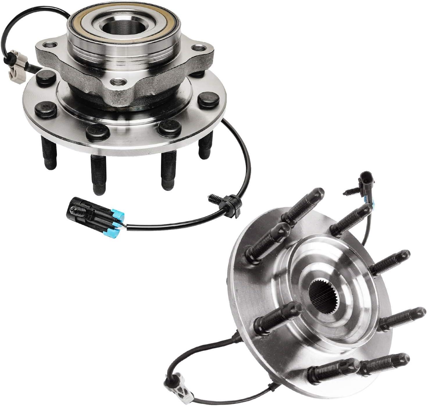 2 Front Wheel Bearing Hub Assembly 4x4 Chevy Silverado GMC Sierra 1500 2500 HD