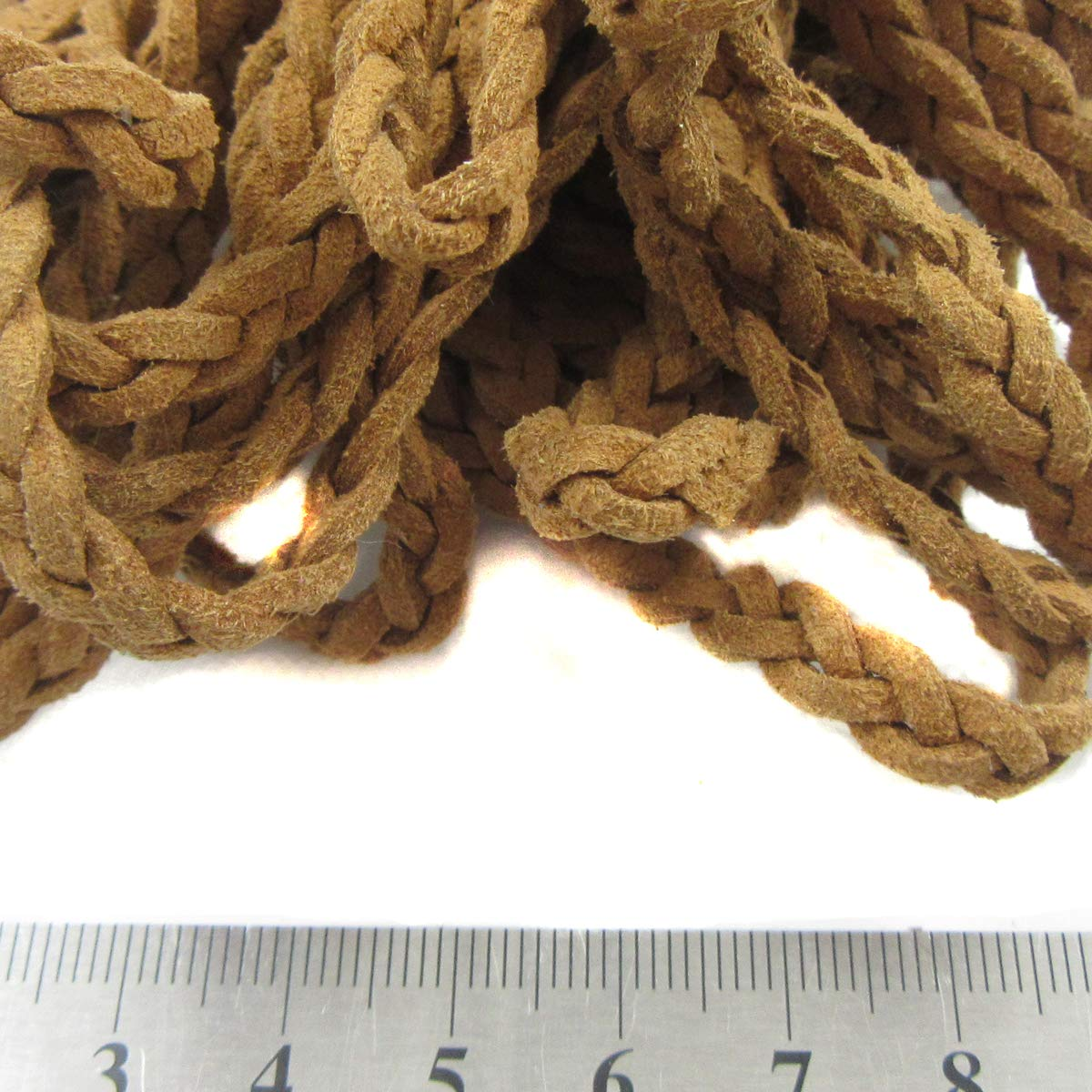 6mm Plaited Faux Suede Cord *40 Colours* Craft Jewellery Making Leather Bracelet (Black H4379, 3) BEADS4CRAFTS