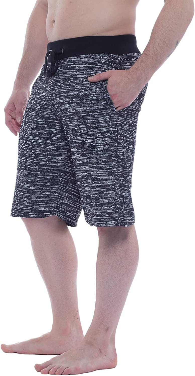 Alki'i Men's Light Weight Comfort Terry Shorts with Pockets 7105