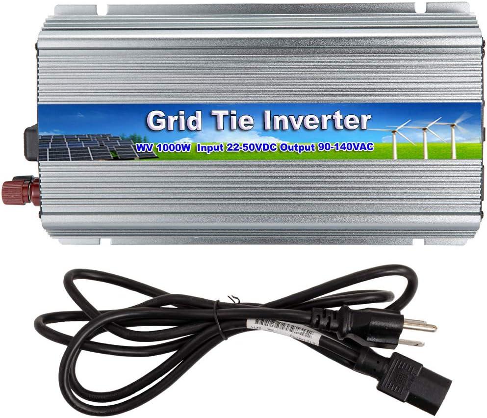 iMeshbean 1000W Grid Tie Power Inverter DC 10.8-30V 22V-50V to AC 110V 220V MPPT Pure Sine Wave Inverter for Solar Panel System DC 22V-50V-AC 110V