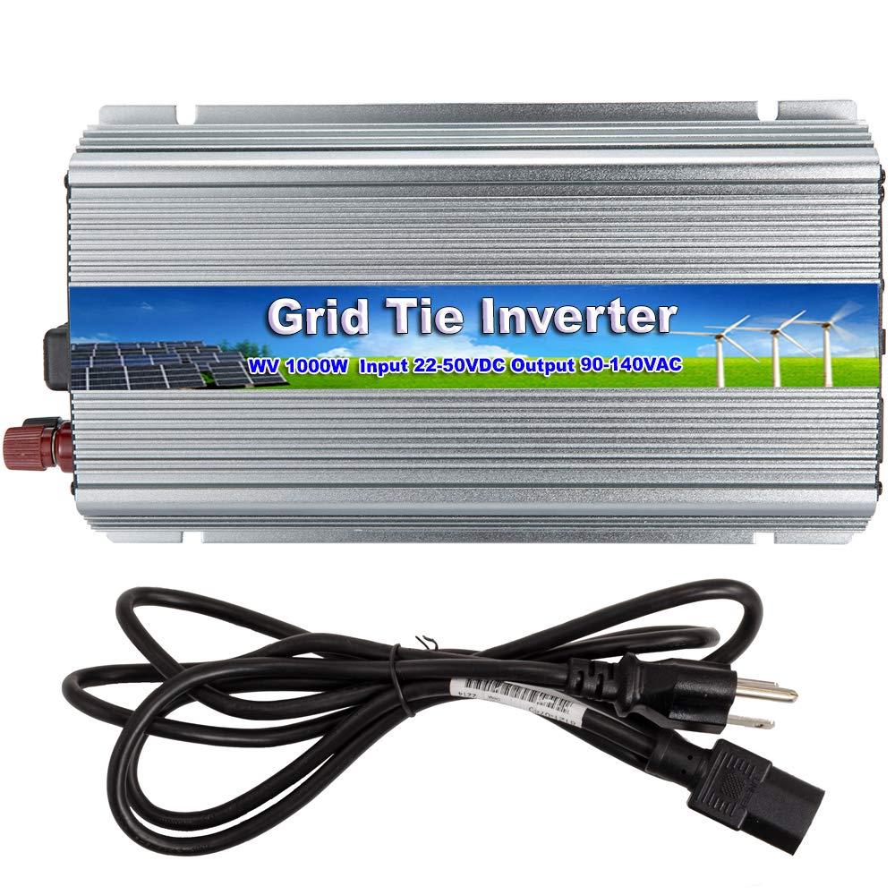iMeshbean 1000W 110V Grid Tie Inverter 22V 50V DC Input for 24V 36V Solar Panel Pure Sine Wave Inverter Stackable
