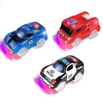 PROACC Track Race Car, Circuito Coches Juguete Niño, Coches Led Accesorios de Pista para Niños 3 4 5 6 Años (3 Coches): Amazon.es: Juguetes y juegos