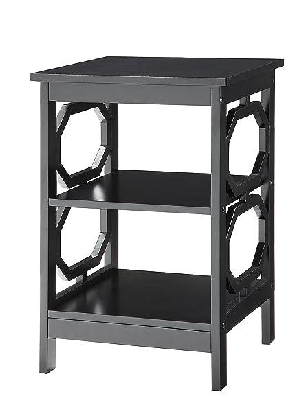Amazon Convenience Concepts Omega End Table Black Kitchen