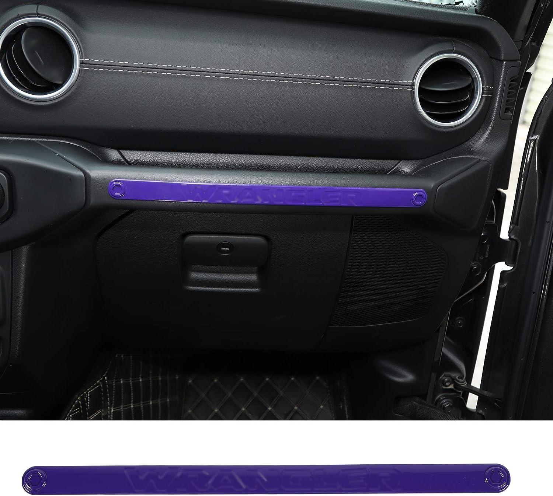 RT-TCZ Handle Trim Cover Passenger Co Pilot Handle Trim Cover Interior Decoration ABS Accessories for Jeep Wrangler 2018-2021 UP JL JLU Purple