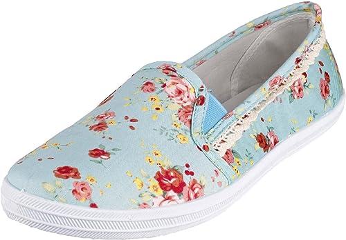 GOSCH SHOES Sylt Damen Sneaker 7114 303 mit Blumenmuster in