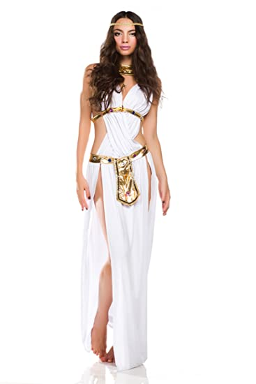 Amour-Sexy Halloween weiß Griechisch Göttin Lange Kleider Kostüm ...
