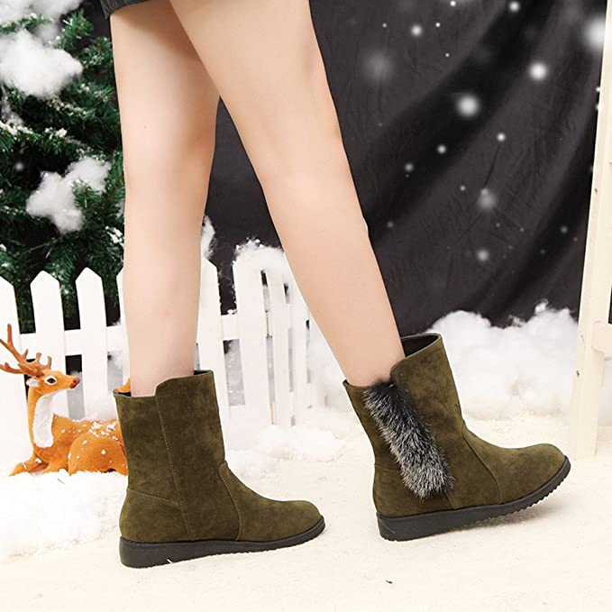 Amazon.com: Lannmart Booties Woman Chinese hot Flat Boots Women Velvet Warm Ankle Boots Snow Boots Woman Winter Botines Mujer: Kitchen & Dining