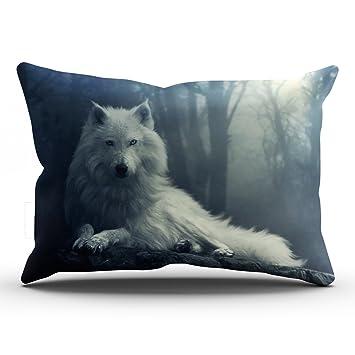 Amazon.com: keibike funda de almohada Brave Wolf ...