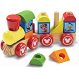 Melissa & Doug Disney Mickey Mouse and Friends Wooden Stacking Train (14 pcs)