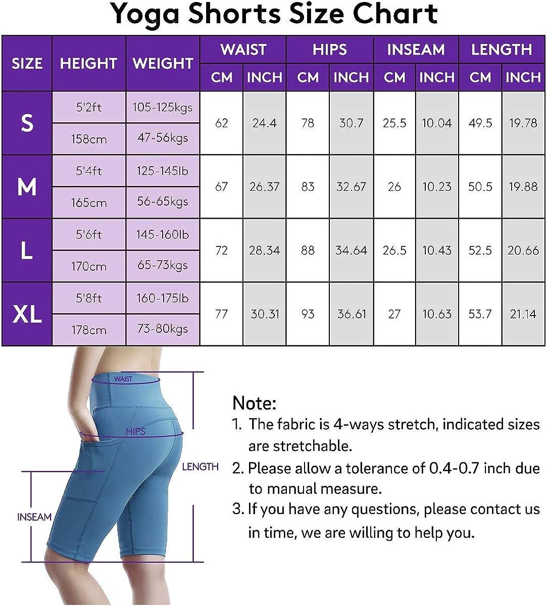 USHARESPORTS Biker Shorts for Women High Waist Yoga Workout Shorts for Women with Pockets Spandex Gym