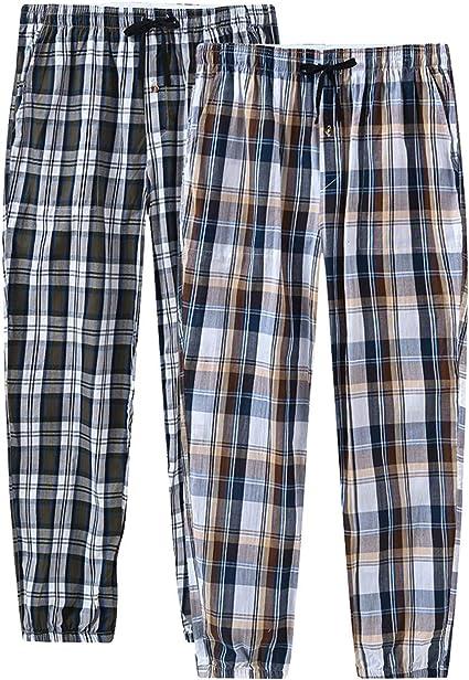 Mens Long Lounge Wear Pants Nightwear Pyjama Bottoms Sleepwear 100/% Cotton 2 Pack