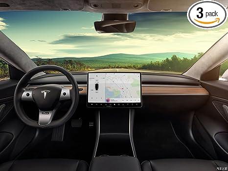 Topfit Car Interior Steering Wheel Cover For Tesla Model 3, Decoration Trim  Kits,Car