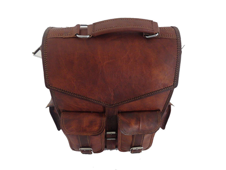 e11e4d7c9515 Vintage Bag Leather Handmade Vintage Style Backpack/College Bag (2 in 1)