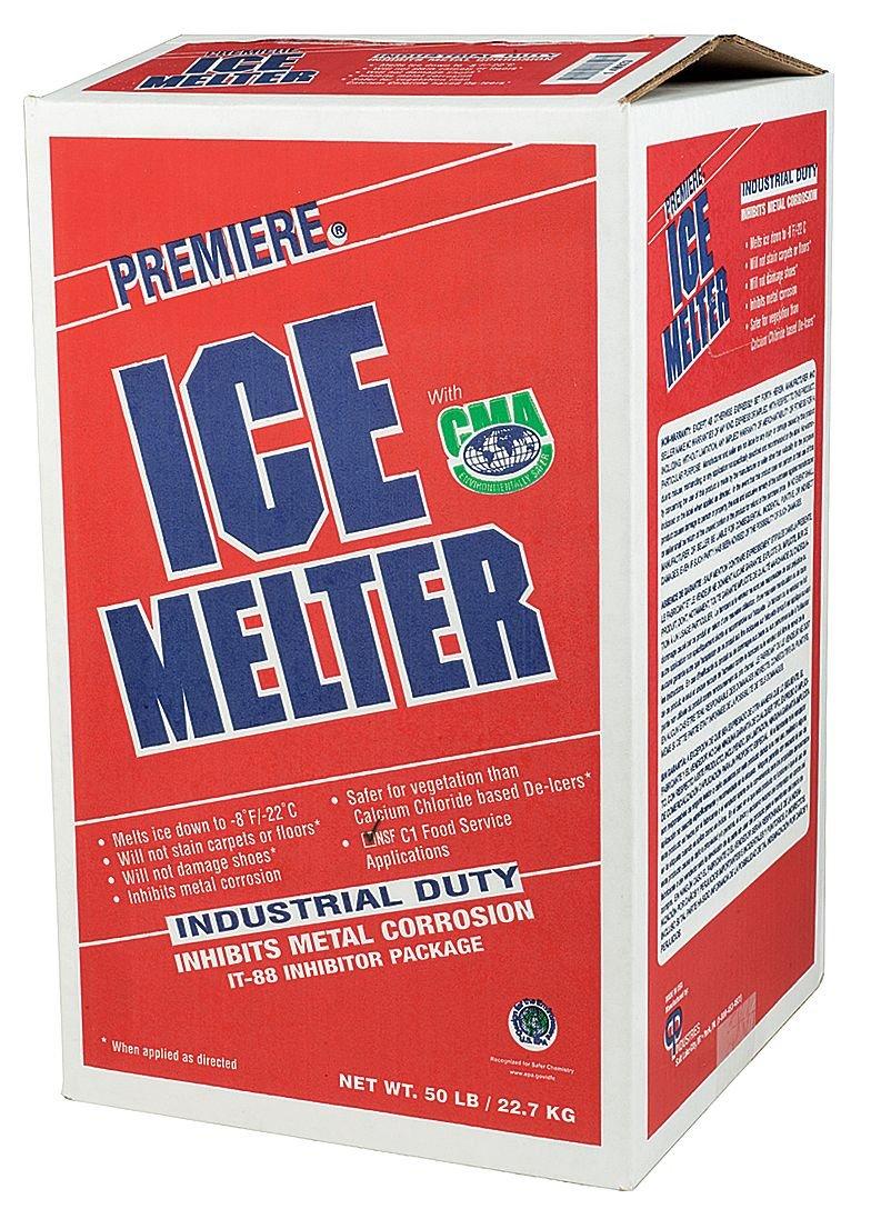 Ice Melt, Granular, 50 lb. Carton, -8 F by Premiere