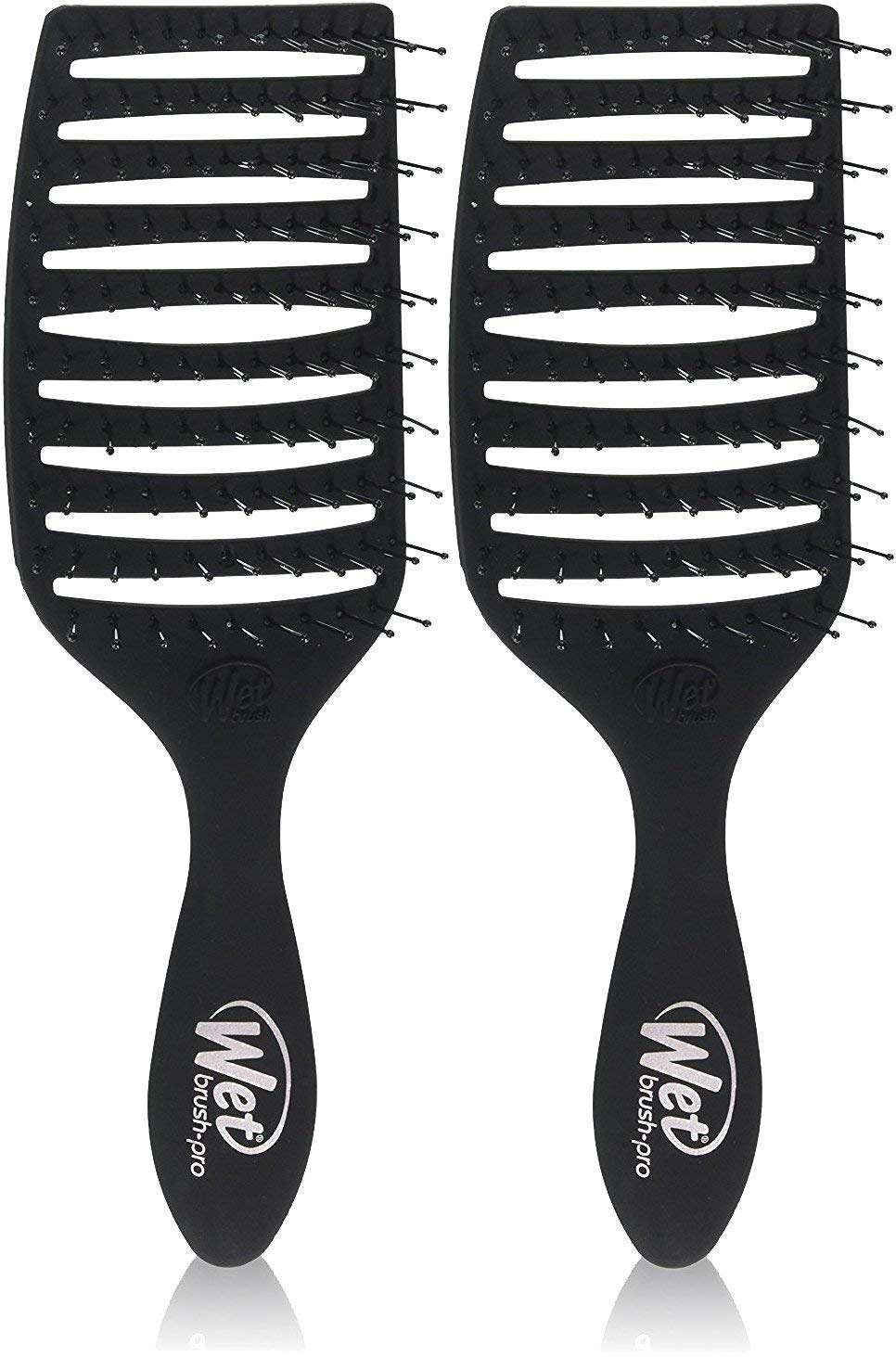2 PACK - Women's Wet Brush Pro Epic Professional Quick Dry Hair Brush (Black)