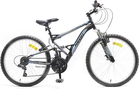 Bicicleta de montaña de 24 pulgadas con suspensión completa ...