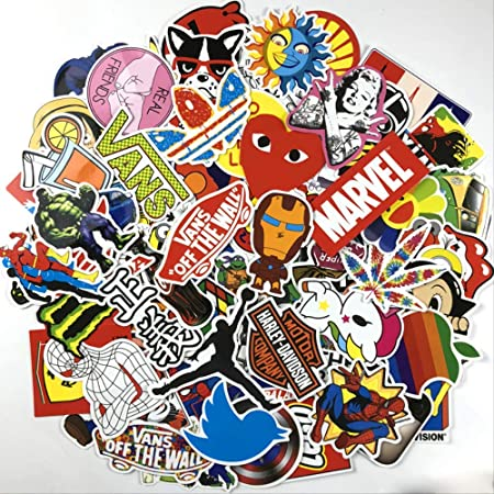 Graffiti Comic Sticker Pack Impermeable Equipaje Pegatina Computadora Skateboard Bike Sticker 100 Unids: Amazon.es: Hogar
