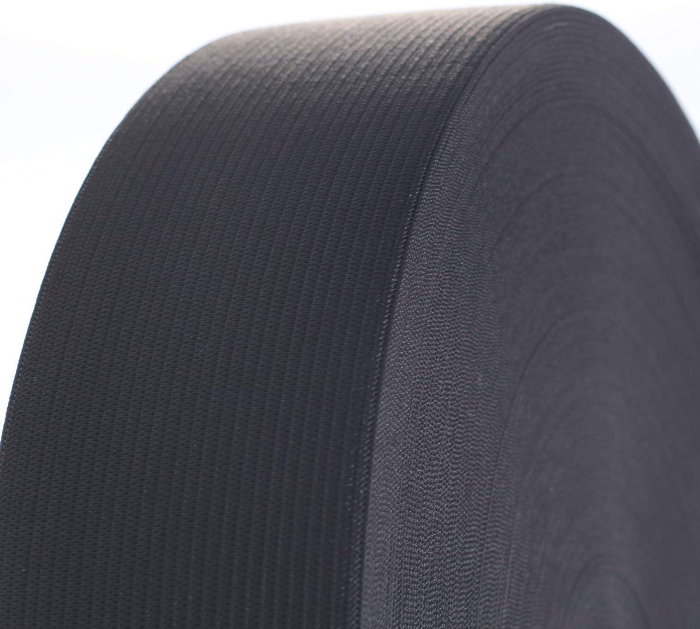 Schwarz TKB5007 Black Elastisches Band Elastische Gummiband f/ür N/ähen//Haushalt//DIY//Handwerk Kleidung TUKA Gummiband 40 Meter x 50 mm Breit