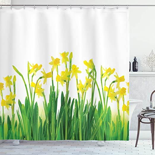 Amazon Com Ambesonne Daffodils Shower Curtain Narcissus And