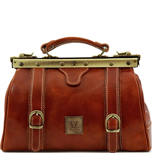 Vintage & Retro Handbags, Purses, Wallets, Bags Tuscany Leather Monalisa Doctor gladstone leather bag with front straps $214.95 AT vintagedancer.com