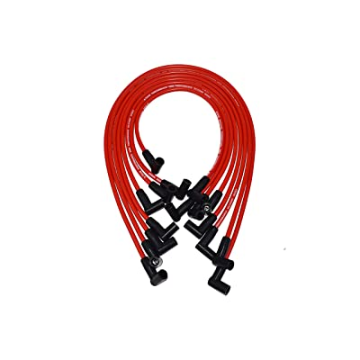 A-Team Performance 8.0mm Red Silicone Spark Plug Wires Compatible with SBC Small Block Chevy Chevrolet GMC Under the Exhaust Wires HEI 283 305 307 327 350 400: Automotive