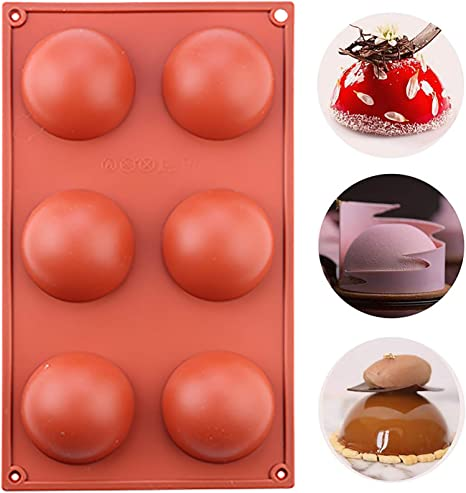 Pudding Cake Medium Semi Sphere Silicone Mold,BUSOHA 3 Pack 6 Holes Half Sphere Silicone Pastry /& Baking Mold for Making Chocolate Handmade Soap Dome Mousse Jelly