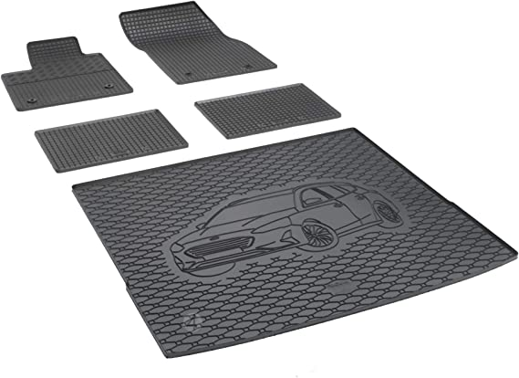 Passende Gummimatten Und Kofferraumwanne Set Geeignet Für Ford Focus Ab 2018 Kombi Ein Satz Gurtschoner Auto