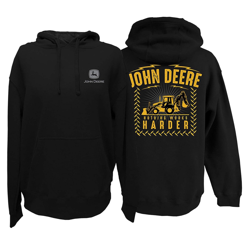 John Deere Mens Nothing Works Harder Pullover Hoodie