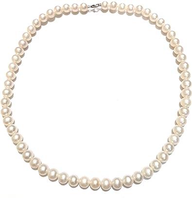 Ras du cou MILUNA de perles et or bianco18kt pcl4199