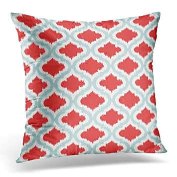 Amazon Com Vanmi Throw Pillow Cover Cute Bold Chic Red Turquoise